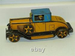 Vintage Marx Tin Litho Wind Up Toy Vehicle, Car With Driver