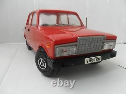 Vintage Soviet USSR Toy Vehicle Red Car VAZ LADA JIGULI 2107 17 in Scale 18