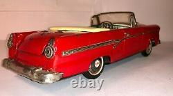 Vintage Tin Car 1956 Ford Fairlane 500 Sunliner 2-Door Convertible