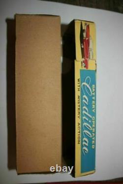 Vtg Japan YONEZAWA CADILLAC FRICTION CAR ORIG/BOX Tin Litho Toy Car